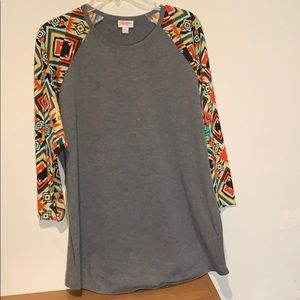 Lularoe Randy 2X 2XL Aztec 3/4 sleeve comfy